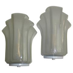 One Pair of Art Deco Style Sconces Vintage, German