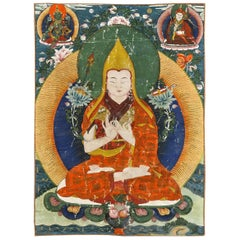 Antique Framed Tibetan Thangka