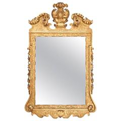 Early 18th Century George I Style Gilt and Gesso Wall Mirror