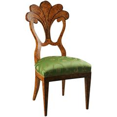 20th Century Vienna Biedermeier Style Fan-Formed Chair