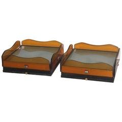 Pair of Sconces Minimalist Veca Design Italian Style, 1960s