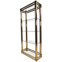 Mid-Century Modern Metal and Glass Etagere