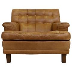 "Arne Norell Buffalo Leather ""Merkur"" Easy Chair, 1960s"