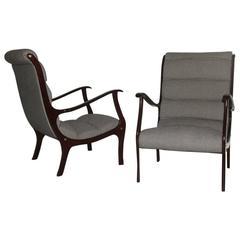 """Pair of Armchairs """"Arredamenti Corallo"""" Italian Midcentury Design"""
