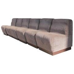 Modular Minimal Sofa Italian Design 1970s