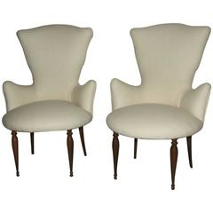 Pair of Small Armchairs of 1950s, Italian Design