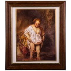 20th Century Great KPm Berlin Painting Plaque after Rembrandt