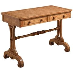 Victorian Burr Maple Writing Table