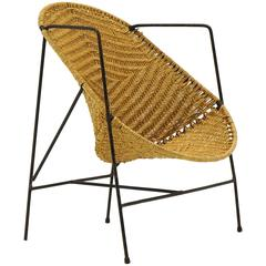 John Salterini Childs Chair, Wrought Iron and Wicker