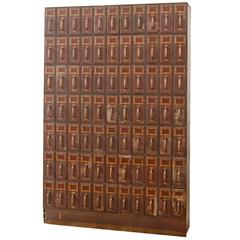 77-Drawer Filing Cabinet, circa 1920s