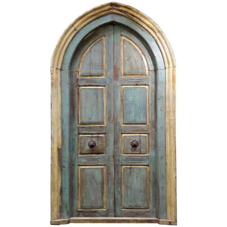 Pair of Monumental Mediterranean Large Size Door For Sale