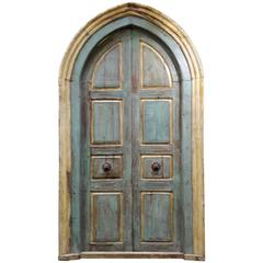 Pair of Monumental Mediterranean Large Size Door