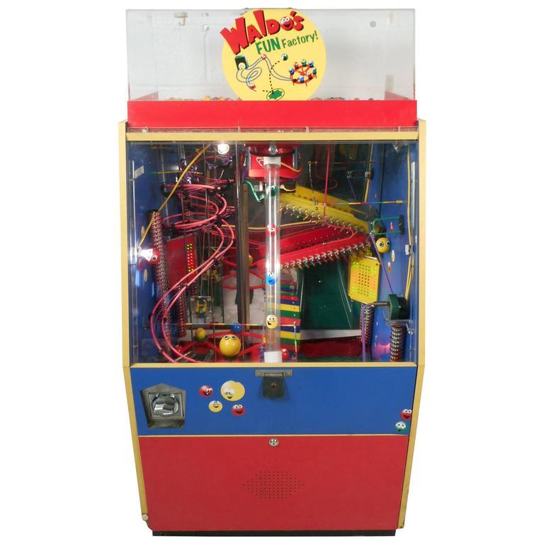"Mid-Century Modern Kinetic Gum Ball Machine ""Waldo's Fun Factory"""