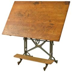 Cast Iron Drafting Table by Keuffel and Esser, circa 1905