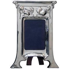 Art Nouveau Sterling Silver Photograph Frame