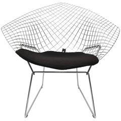 "Harry Bertoia Polished Chrome ""Diamond Chair"" for Knoll International"