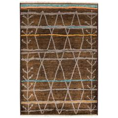 Modern Overdyed Moroccan Rug
