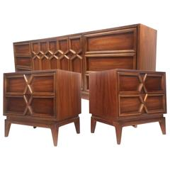 Mid-Century Modern Bedroom Set by American of Martinsville