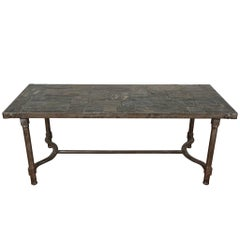 Low Metal Cocktail Table in the manner of Jacques Adnet