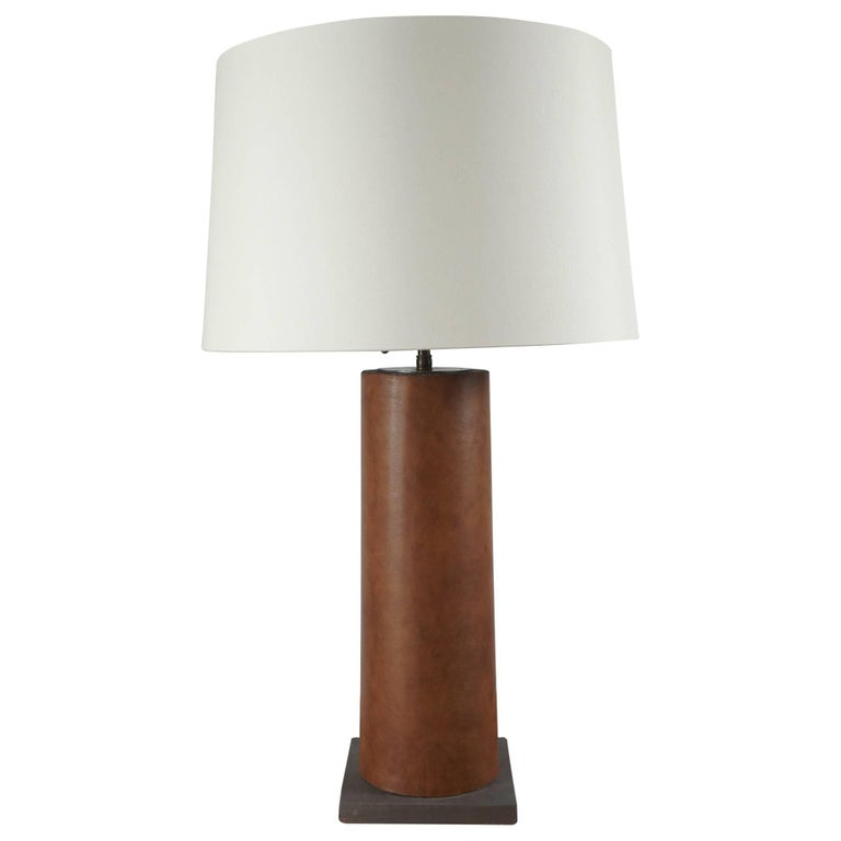 Cylindrical, Column Table Lamp For Sale
