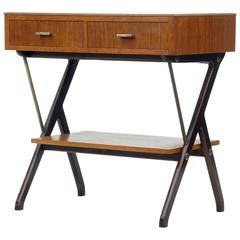 1960s Scandinavian Modern Teak Side Table