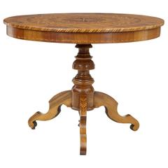 19th Century Inlaid Walnut Sorrento Occasional Table