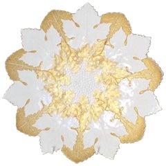 19th Century Antique Meissen Gilt Leaf Plate