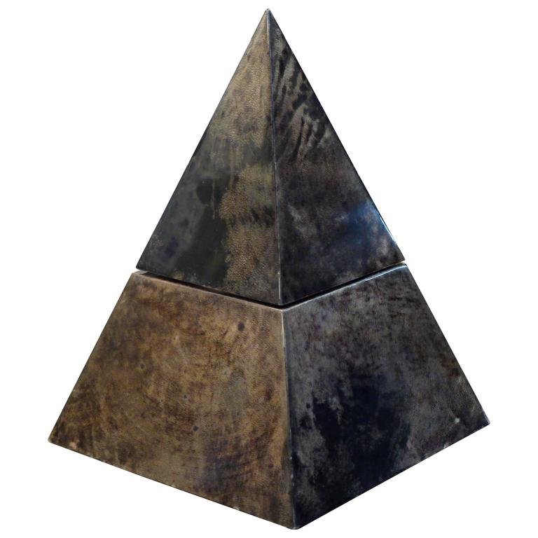 Rare Pyramid Ice Bucket by Aldo Tura 1
