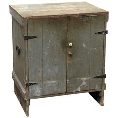 1920s Antique Wooden Tool Cabinet with Five Drawers