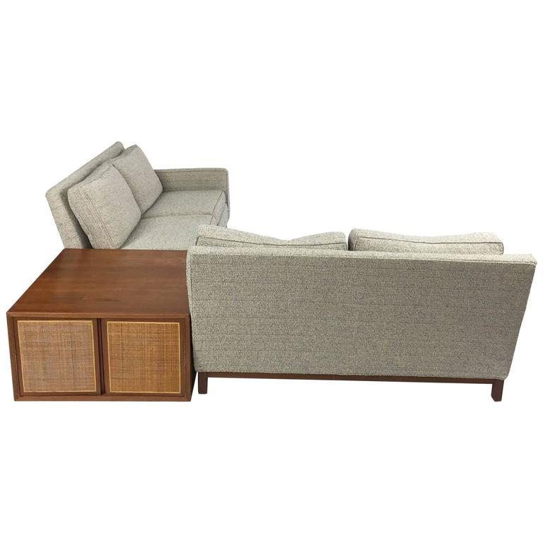 Danish Modern Henredon Sectional Sofa With Corner Storage