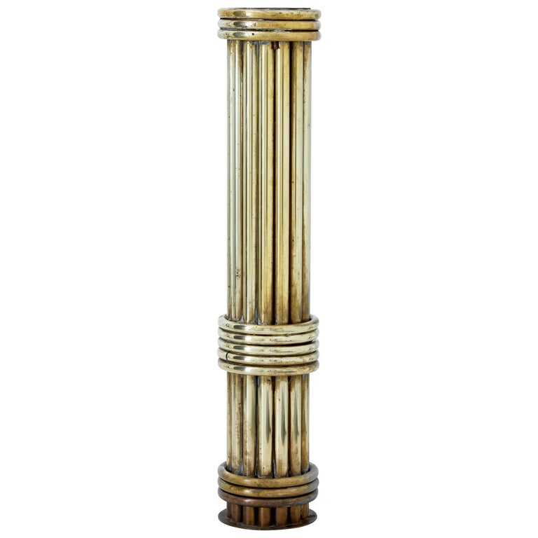 Unusual Architectural Brass Stand Column For Sale