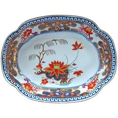Antique English Turner's Patent Ironstone Imari Large Dish