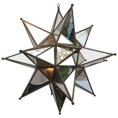 Grand Mirrored Starburst Pendant Light