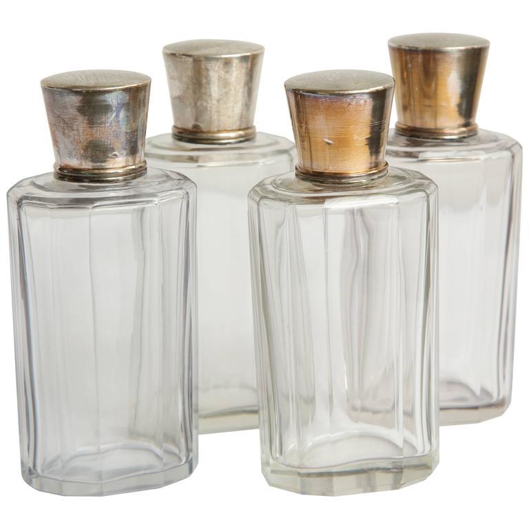 Set of Four Toiletry Bottles