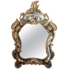 Antique Painted Mirror, Venetian