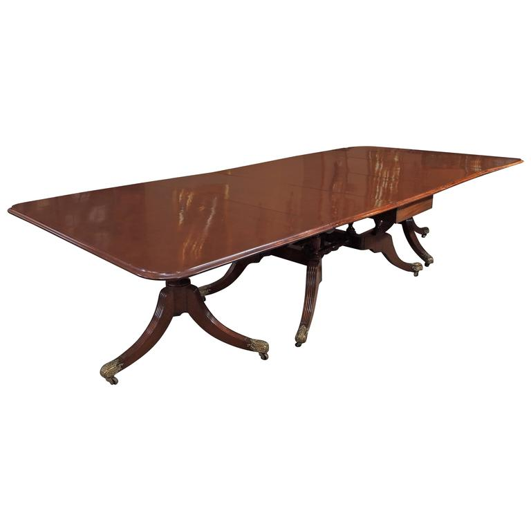 Antique English Mahogany Dining Table For Sale