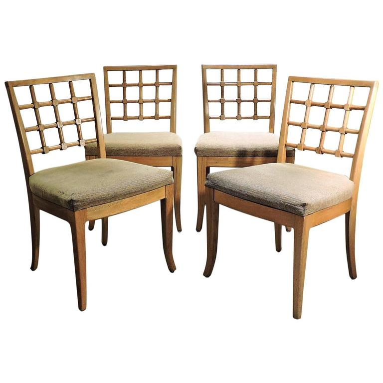 Beau Lattice Back Chairs Style Jean Michel Frank For Sale