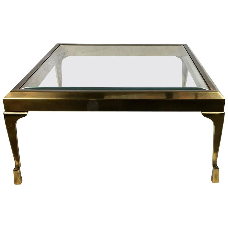 Rare and Exquisite Brass Coffee Table by Mastercraft
