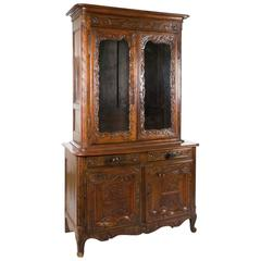 Buffet Cabinet in Carved Oak, France, Louis XVI, 18th Century
