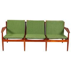 Danish Mid-Century Modern Three-Seat Sofa Designed by Arne Vodder