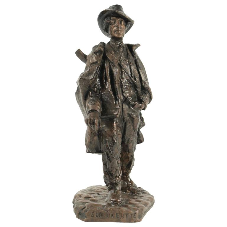 Sculpture of a Typical Person Living at the Butte Montmartre in the 19th Century For Sale