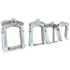 Rare, 19th Century Four Zinc Windows Frame, France