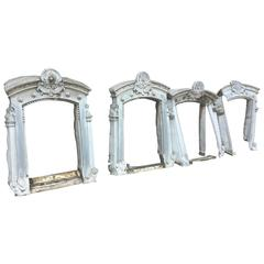 Rare, 19th Century Four Zinc Windows Frame, France