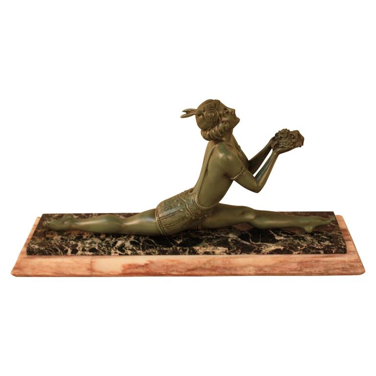 French art deco dancer by francaise casting paris at 1stdibs for Deco francaise
