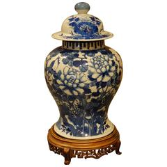 Blue and White Chinese Urn