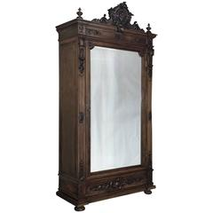 19th Century Napoleon III French Walnut Armoire