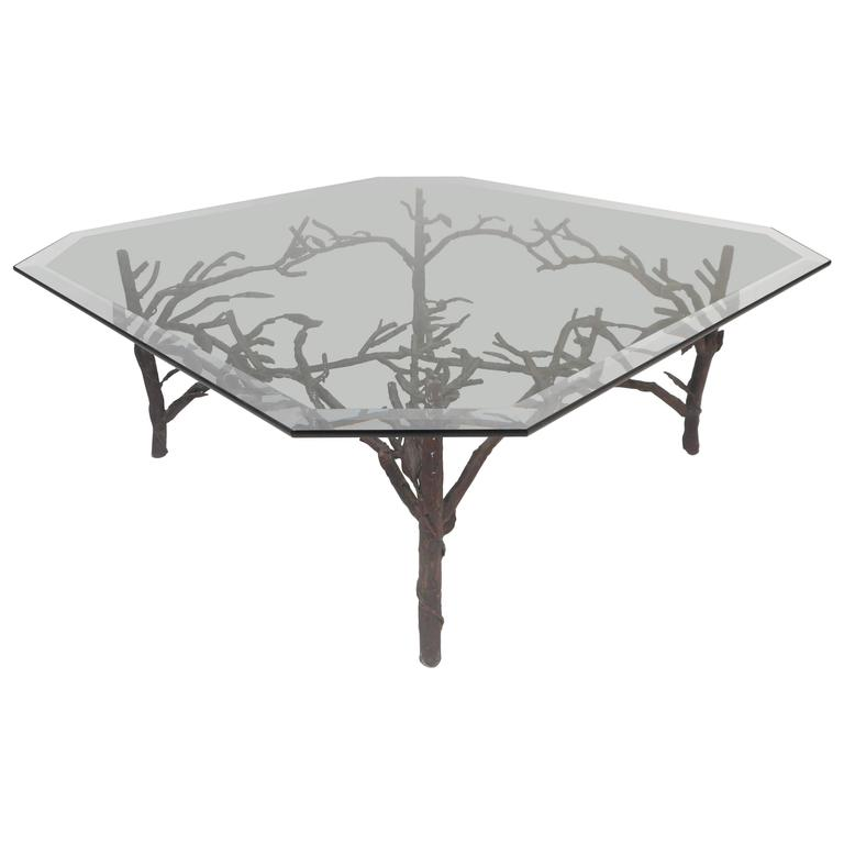 Large contemporary modern glass top coffee table after for Large glass table top