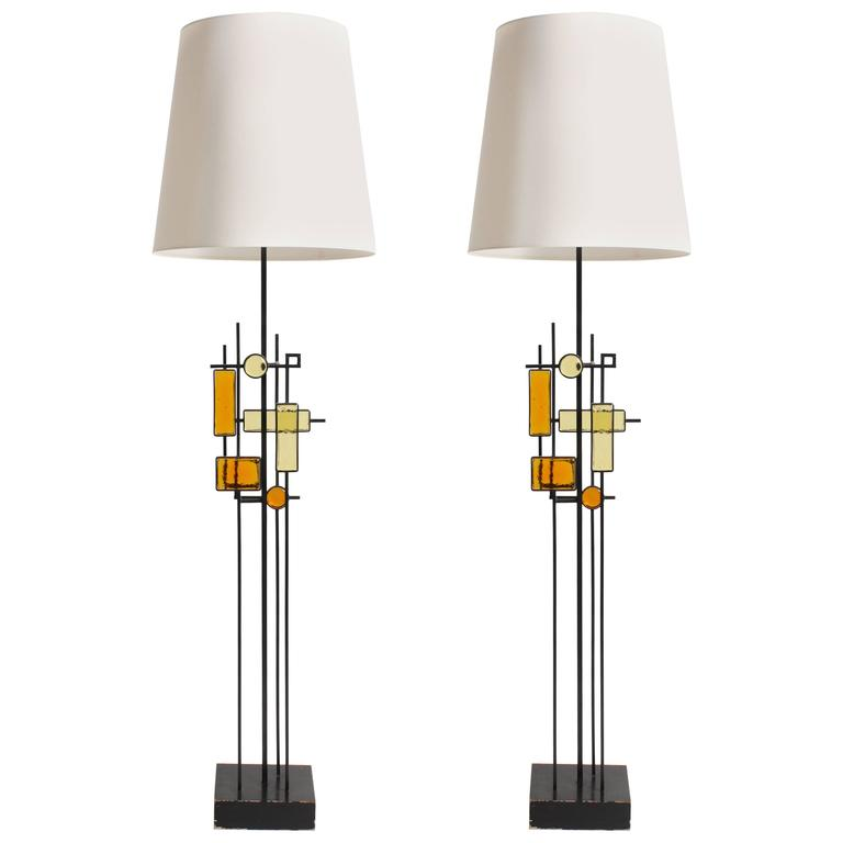 Pair of Large Holm Sørensen Table Lamps
