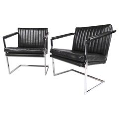 Pair of Mid-Century Modern Cantilevered Side Chairs
