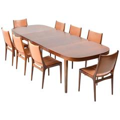 Dining Set in Rosewood by Johannes Andersen for Uldum Møbelfabrik